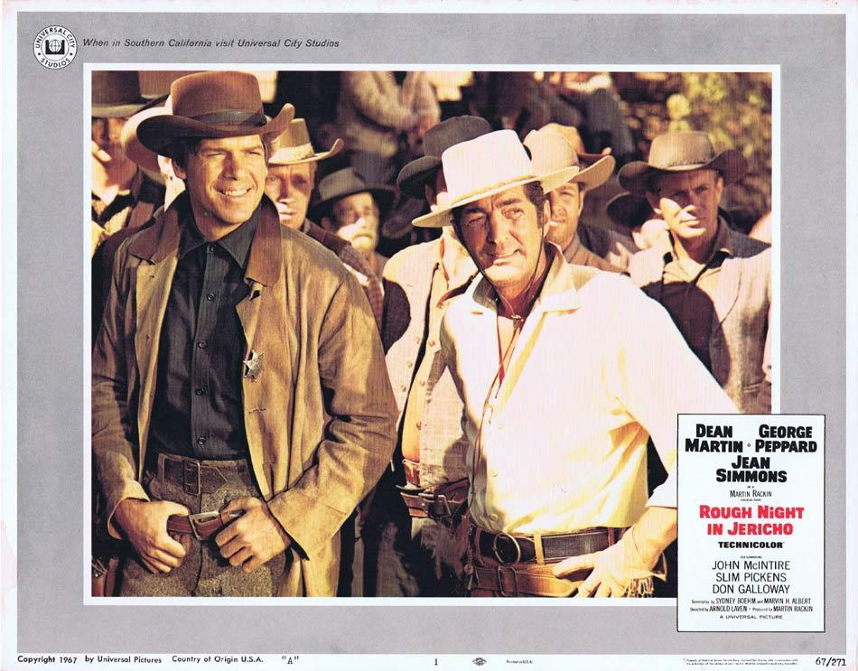 ROUGH NIGHT IN JERICHO Lobby Card 1 George Peppard Dean Martin Jean Simmons