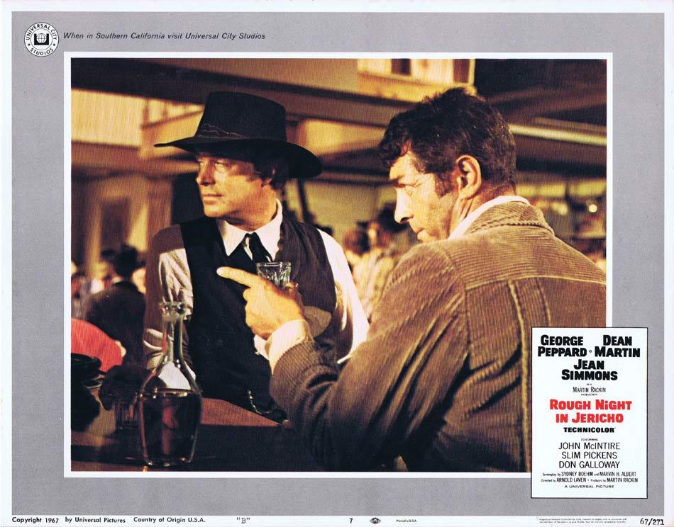 ROUGH NIGHT IN JERICHO Lobby Card 7 George Peppard Dean Martin Jean Simmons