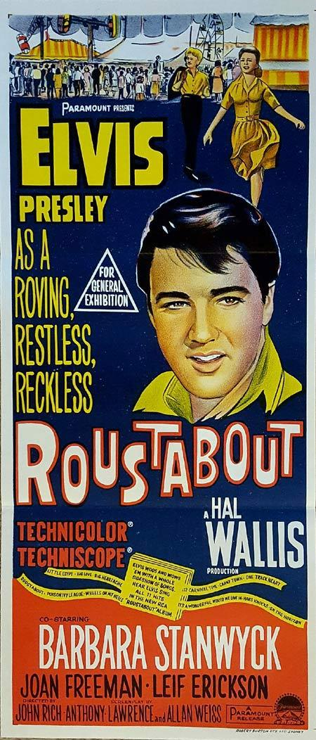 ROUSTABOUT Original Daybill Movie Poster Elvis Presley