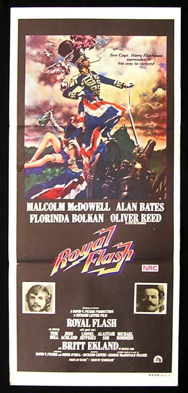 ROYAL FLASH Original Daybill Movie Poster Malcolm McDowell