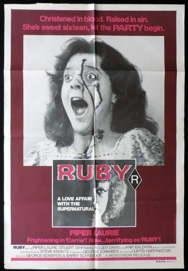 RUBY One Sheet Movie Poster Style B Piper Laurie Horror