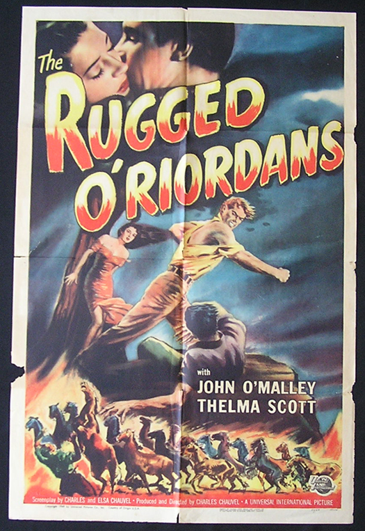 SONS OF MATTHEW aka THE RUGGED O'RIORDANS US One sheet Movie Poster 1949 Charles Chauvel