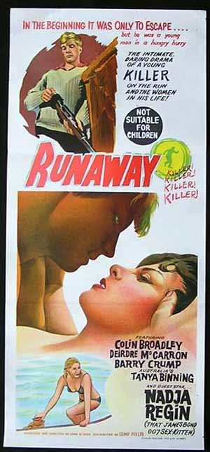 RUNAWAY 1964 Kiri Te Kanawa JOHN O'SHEA New Zealand Film Movie poster