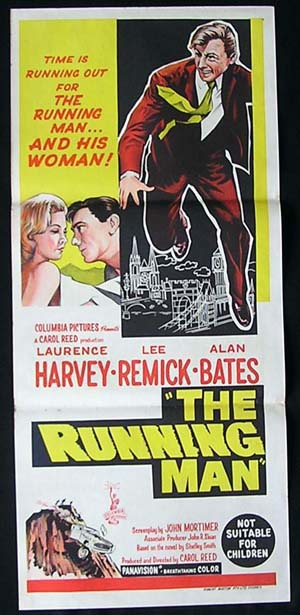 RUNNING MAN Daybill Movie Poster 1963 Carol Reed Laurence Harvey