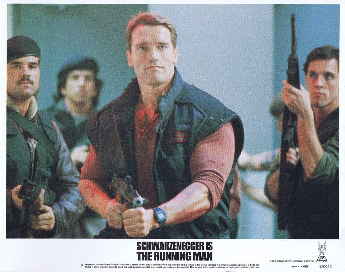 THE RUNNING MAN Lobby Card 2 Arnold Schwarzenegger