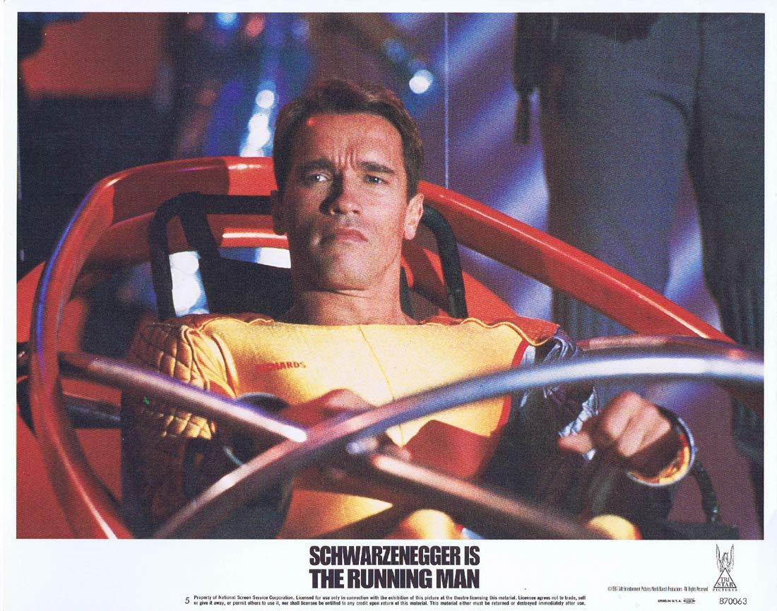 THE RUNNING MAN Lobby Card 5 Arnold Schwarzenegger