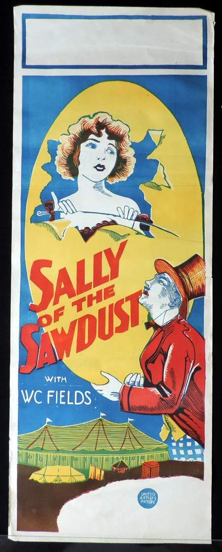 SALLY OF THE SAWDUST Long Daybill Movie poster D. W. Griffith W.C.Fields Circus