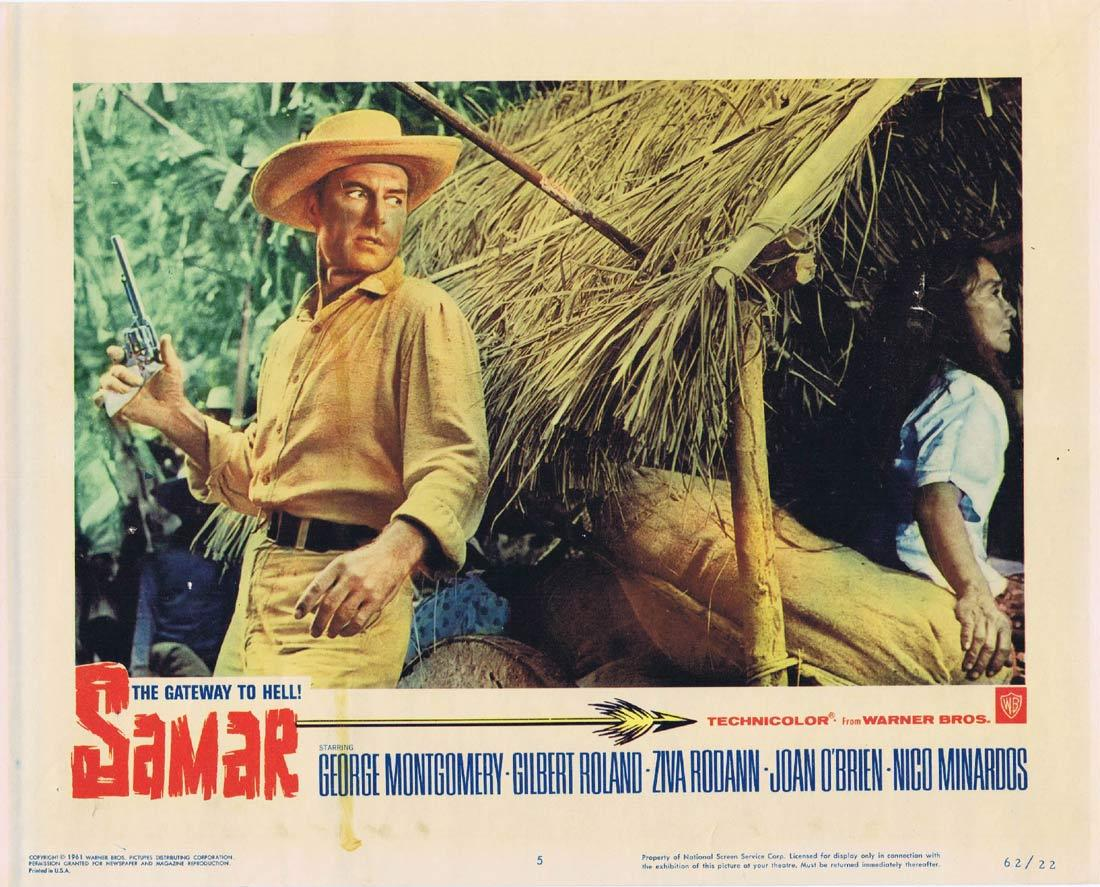 SAMAR THE GATEWAY TO HELL Lobby Card 2 Sterling Hayden Yvonne De Carlo Zachary Scott