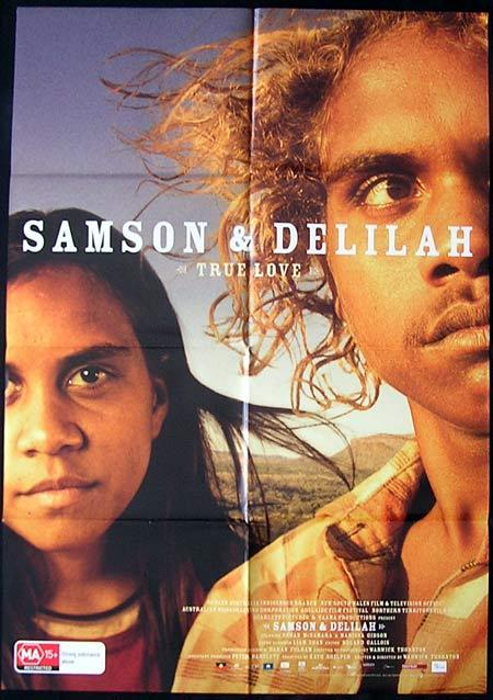 SAMSON AND DELILAH Movie Poster 2009 Warwick Thornton Australian One sheet