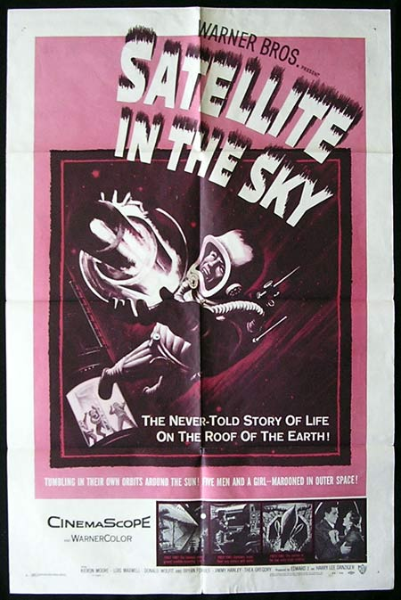 SATELLITE IN THE SKY '56-Keiron Moore US one sheet poster