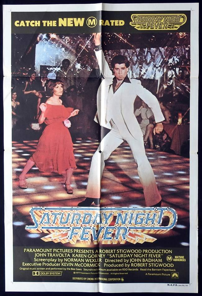 SATURDAY NIGHT FEVER Original One sheet Movie Poster John Travolta The Bee Gees