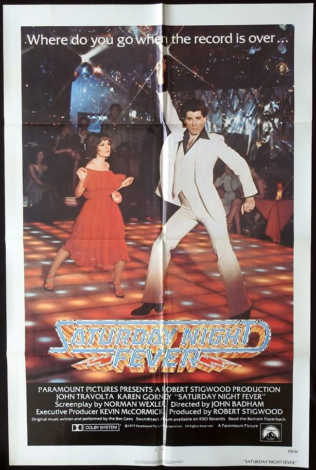 SATURDAY NIGHT FEVER Original US One sheet Movie Poster John Travolta The Bee Gees