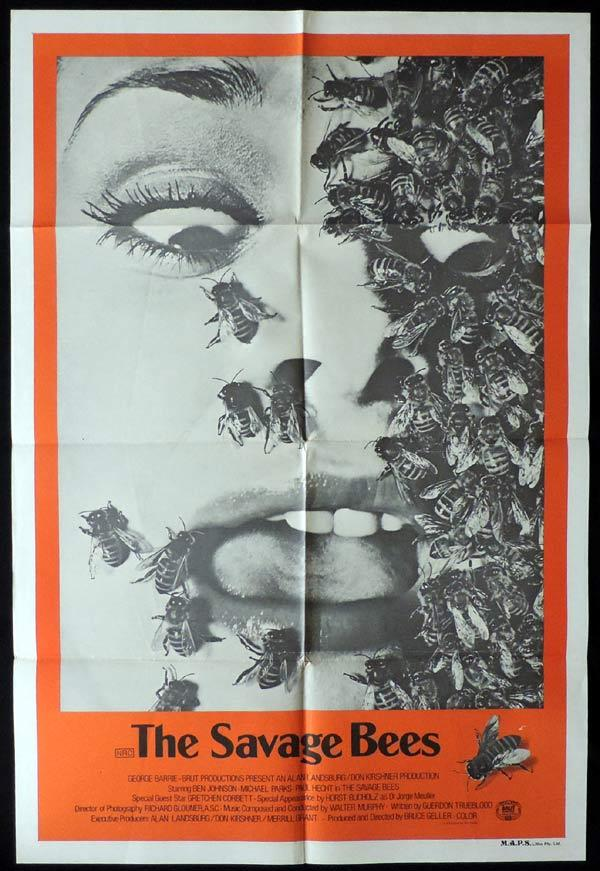 THE SAVAGE BEES One Sheet Movie Poster Christina Raines Horror