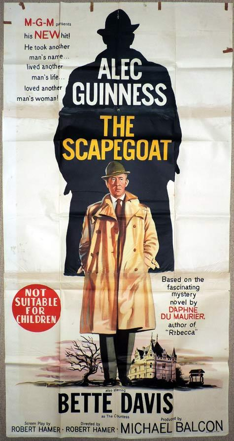 THE SCAPEGOAT Original 3 Sheet Movie Poster Alec Guinness Bette Davis