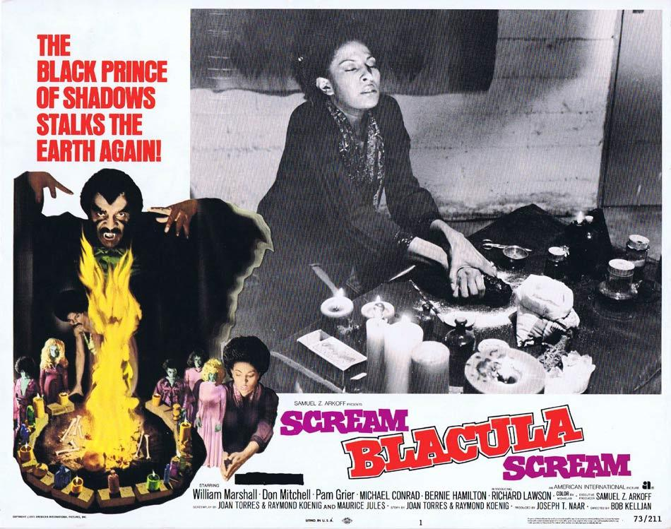 SCREAM BLACULA SCREAM Lobby Card 1 1973 Blaxploitation Horror Pam Grier