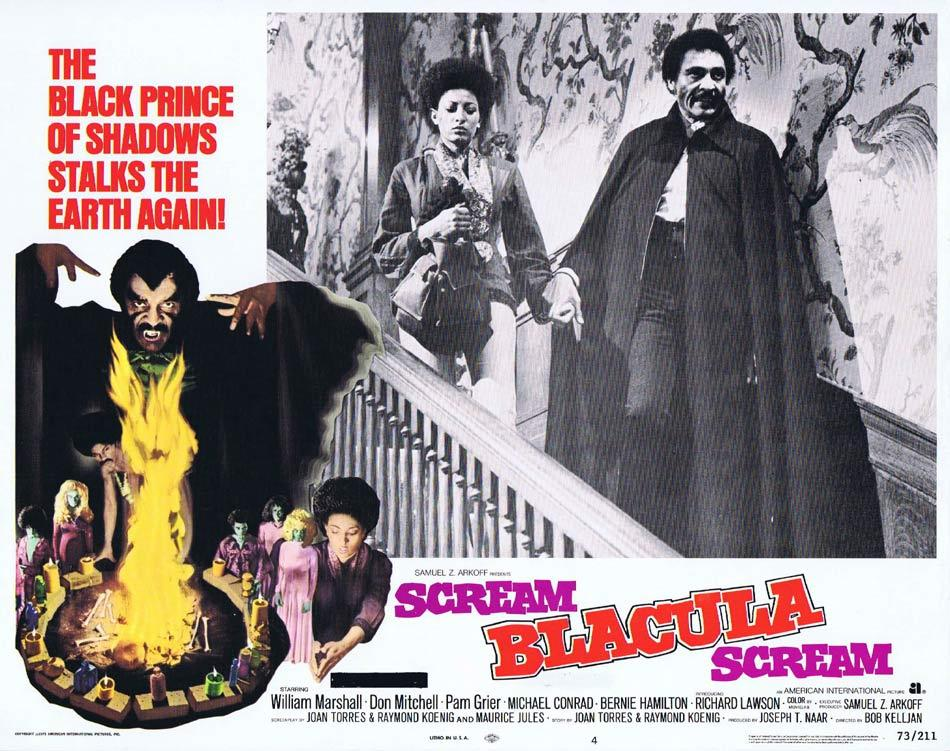 SCREAM BLACULA SCREAM 1973 Blaxploitation Horror William Marshall Lobby Card 4
