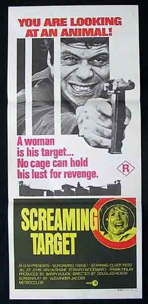 SCREAMING TARGET aka SITTING TARGET Daybill Movie Poster Oliver Reed
