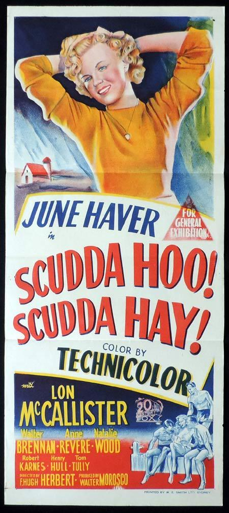 SCUDDA HOO SCUDDA HAY Original Daybill Movie Poster MARILYN MONROE June Haver