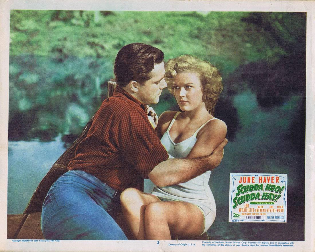 SCUDDA HOO SCUDDA HAY Lobby Card 2 June Haver