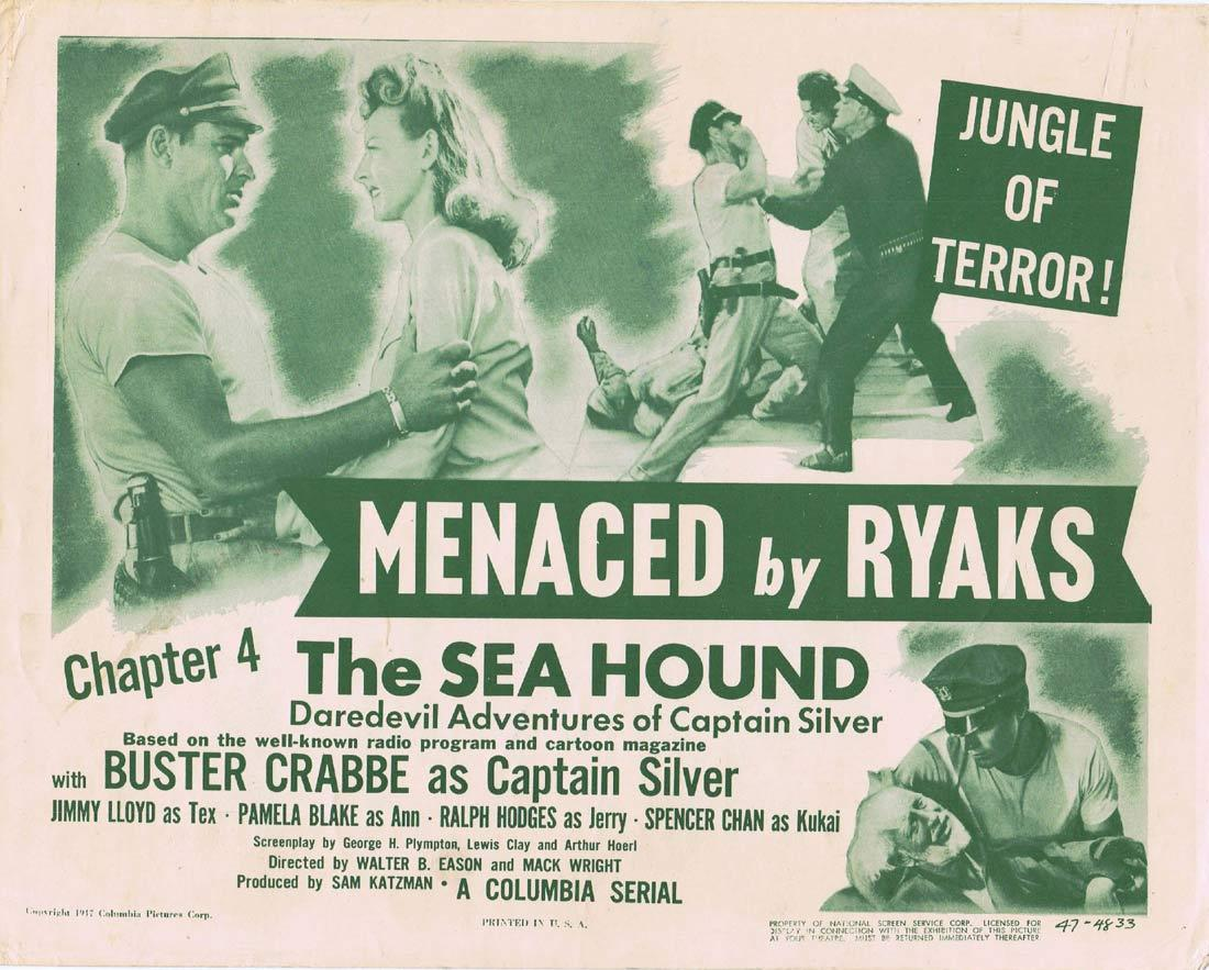 THE SEA HOUND Original Title Lobby Card Columbia Serial 1947 Buster Crabbe