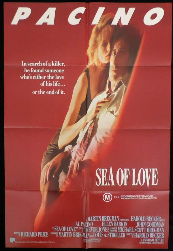 SEA OF LOVE One Sheet Movie Poster Ellen Barkin Al Pacino