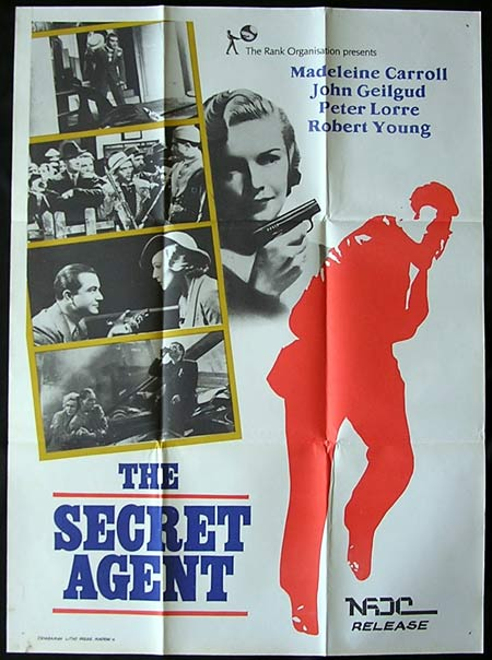 SECRET AGENT, The '36-Hitchcock INDIAN poster
