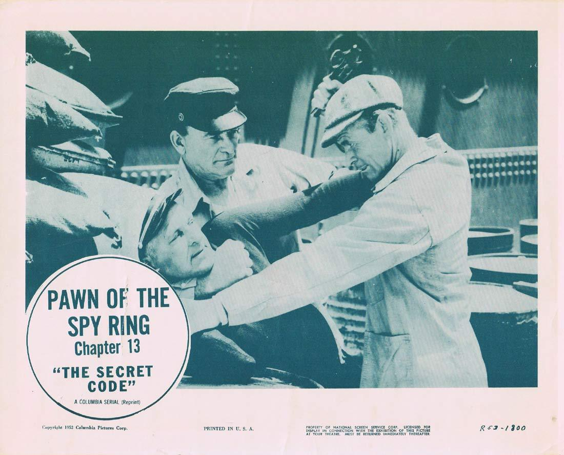 THE SECRET CODE Original Lobby Card 5 Chapter 13 Columbia Serial 1953r