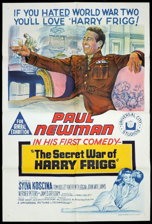 SECRET WAR OF HARRY FRIGG One Sheet Movie Paul Newman