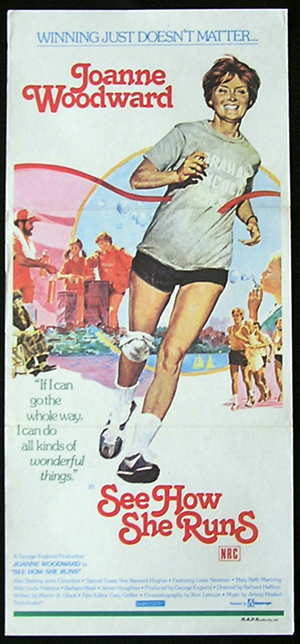 SEE HOW SHE RUNS Joanne Woodward Daybill Movie poster