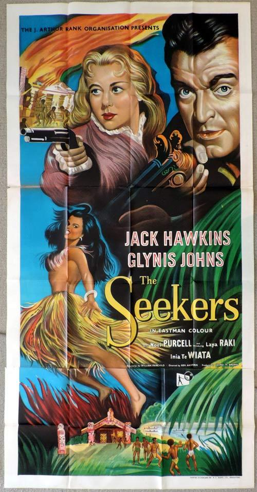 THE SEEKERS aka LAND OF FURY British Three Sheet Movie poster NEW ZEALAND Cinema