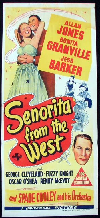 SENORITA FROM THE WEST Movie poster Allan Jones Bonita Granville