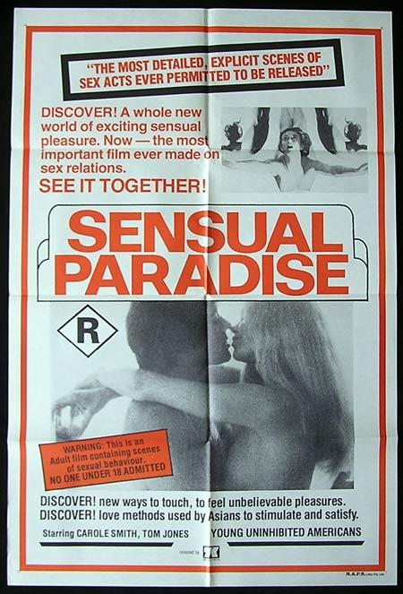 SENSUAL PARADISE aka TOGETHER '70-Rare-Wes Craven Sexploitation poster