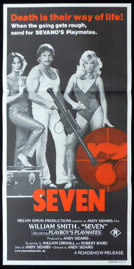 SEVEN, Original Daybill, Movie Poster, William Smith, Playboy Models