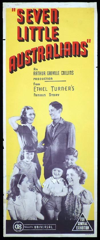 SEVEN LITTLE AUSTRALIANS Long Daybill Movie poster 1939 Ethel Turner