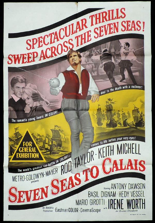 SEVEN SEAS TO CALAIS One Sheet Movie Poster Rod Taylor Keith Michel