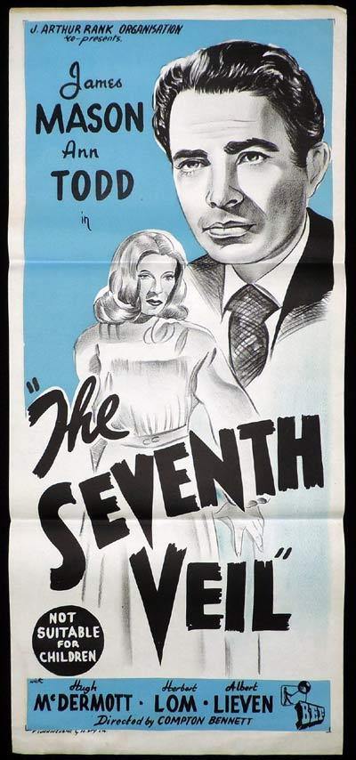THE SEVENTH VEIL Original Daybill Movie Poster James Mason Ann Todd