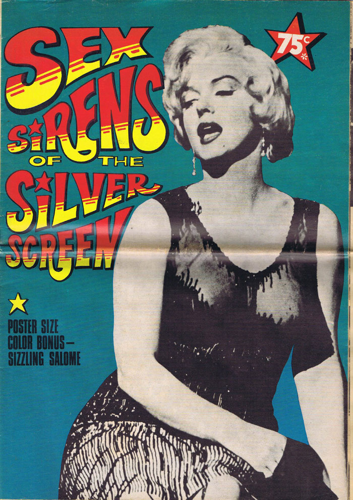 SEX SIRENS OF THE SILVER SCREEN Marilyn Monroe VERY RARE 1970s Magazine