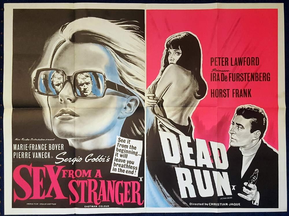 SEX FROM A STRANGER DEAD RUN Double Bill British Quad Movie poster