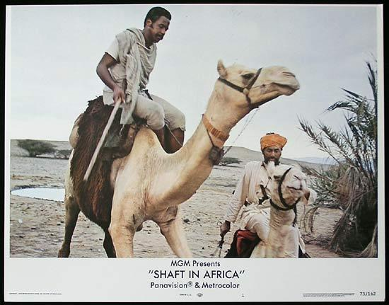 SHAFT IN AFRICA 1973 Richard Roundtree BLAXPLOITATION Lobby card #1