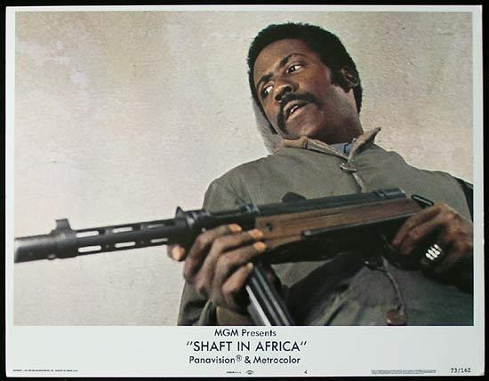 SHAFT IN AFRICA 1973 Richard Roundtree BLAXPLOITATION Lobby card #4