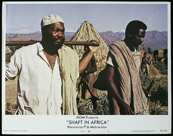 SHAFT IN AFRICA 1973 Richard Roundtree BLAXPLOITATION Lobby card #8