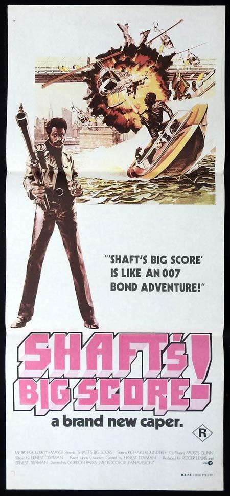 SHAFT'S BIG SCORE Original Daybill Movie Poster Richard Roundtree Moses Gunn