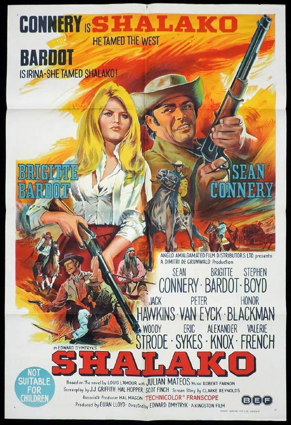 SHALAKO One Sheet Movie Poster Brigitte Bardot Sean Connery