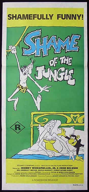 SHAME OF THE JUNGLE 75-John Belushi-Bill Murray TARZOON daybill Movie poster