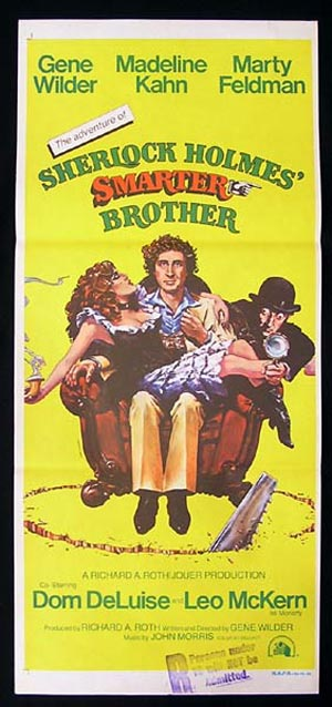 SHERLOCK HOLMES SMARTER BROTHER Australian Daybill Movie poster