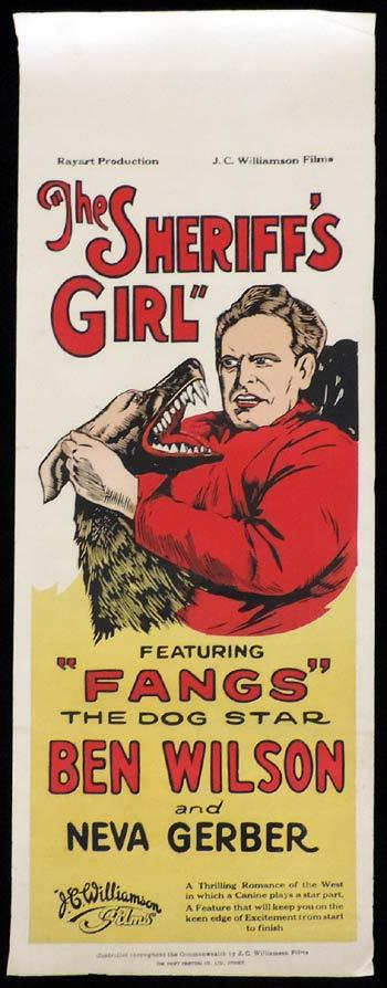 THE SHERRIFF'S GIRL Long Daybill Movie poster 1927 Ben Wilson Silent Cinema