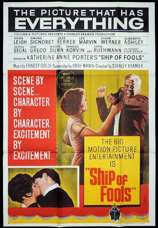 SHIP OF FOOLS One Sheet Movie Poster Simone Signoret Vivien Leigh