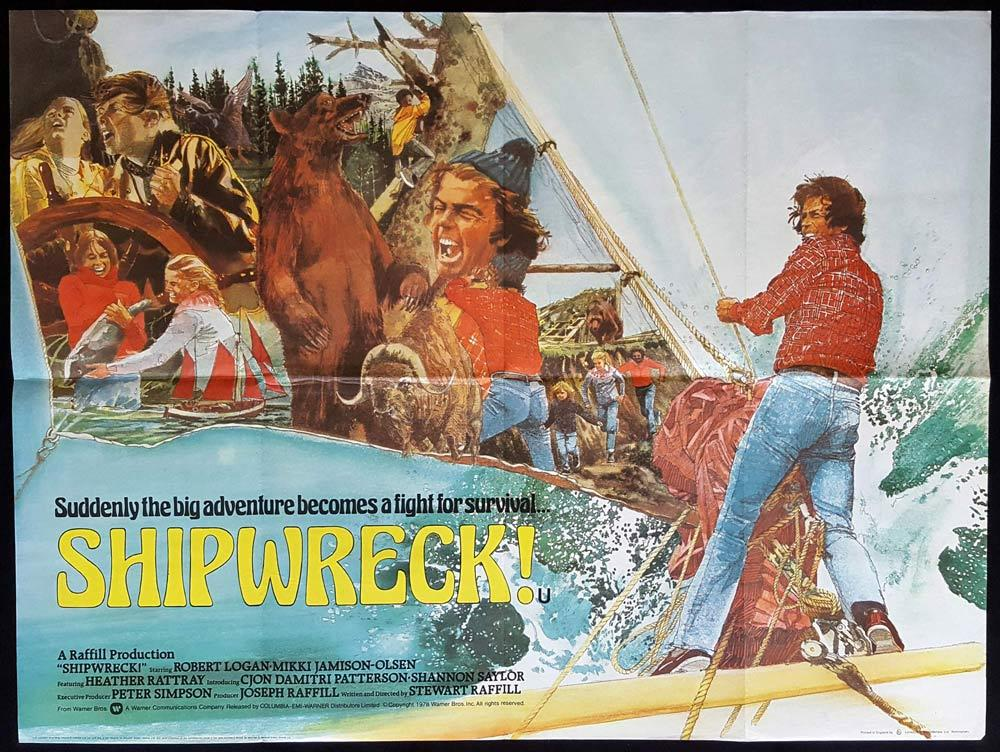 SHIPWRECK aka THE SEA GYPSIES Original British Quad Movie poster Laurence Olivier Diane Lane