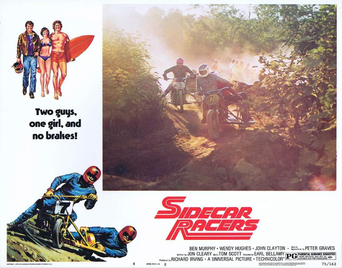 SIDECAR RACERS 1975 MotorCycle / Biker US Lobby card 4