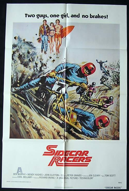 SIDECAR RACERS 1975 Wendy Hughes ORIGINAL US One sheet Movie poster